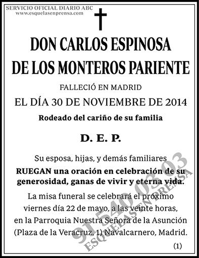Carlos Espinosa de los Monteros Pariente